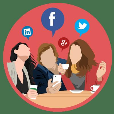 login mídia social